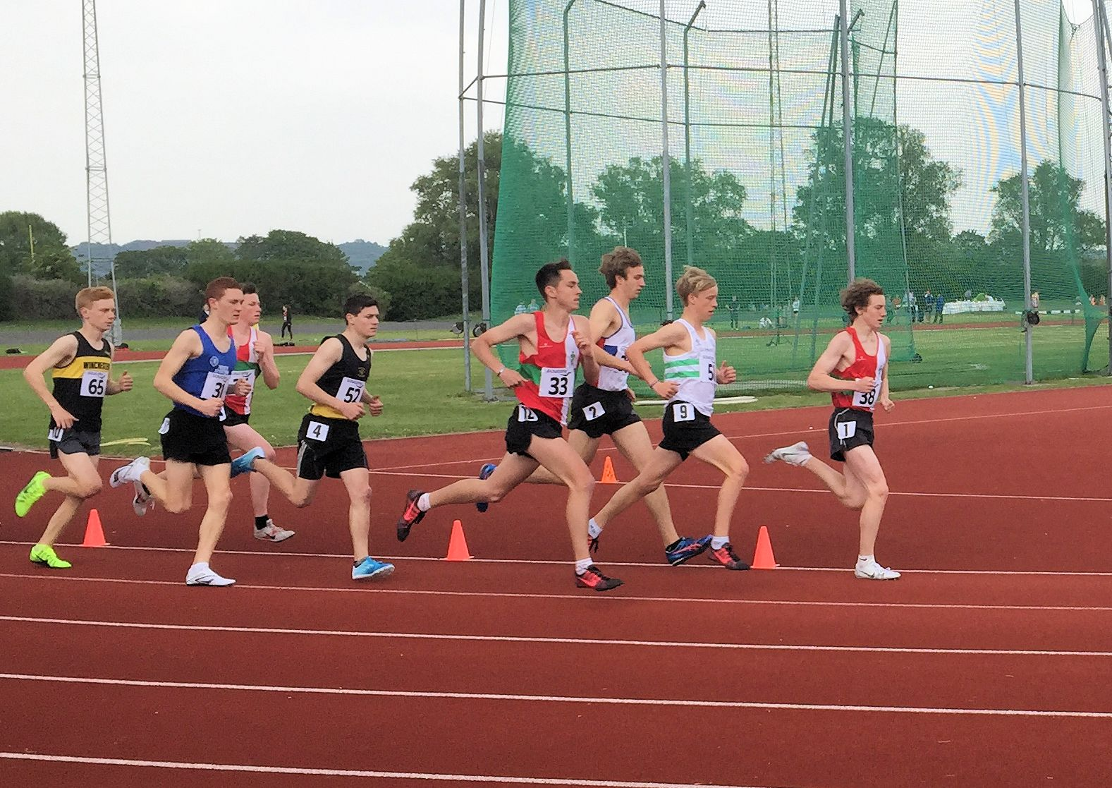 Robbie Leading the Pack in the 3000m